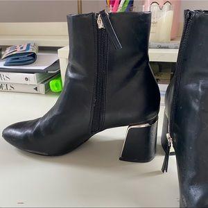 Zara heeled booties